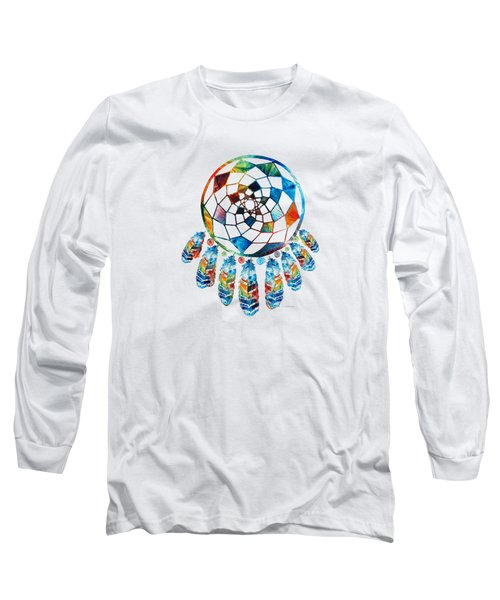 Colorful Dream Catcher By Sharon Cummings Long Sleeve T-Shirt