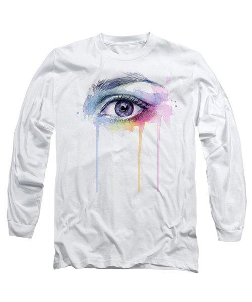 Colorful Dripping Eye Long Sleeve T-Shirt
