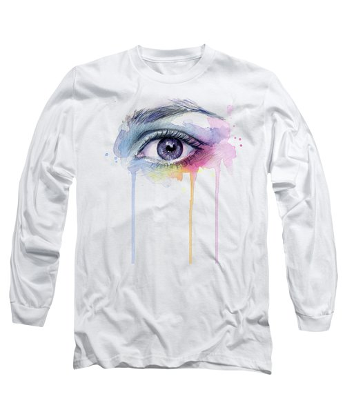 Colorful Dripping Eye Long Sleeve T-Shirt