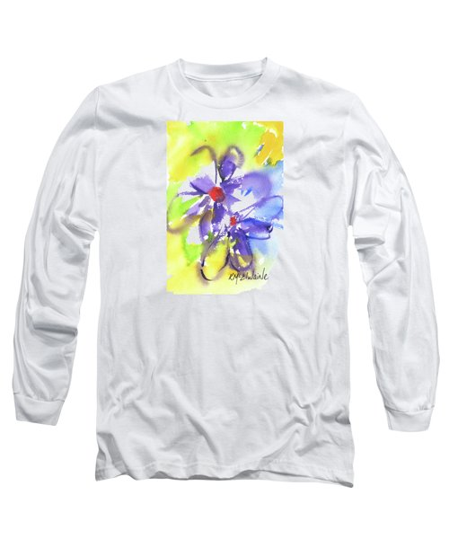Colorful Flower Long Sleeve T-Shirt by Kathleen McElwaine