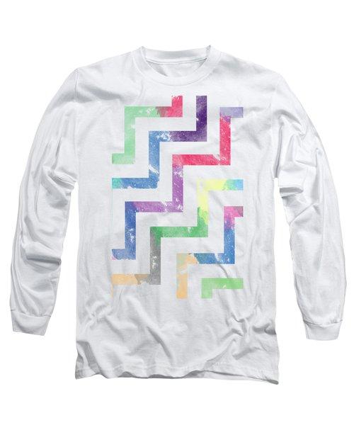 Colorful Geometric Patterns Vi Long Sleeve T-Shirt by Amir Faysal