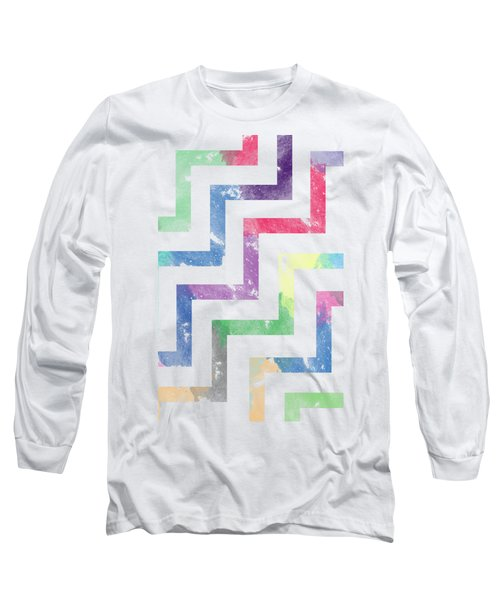 Colorful Geometric Patterns Vi Long Sleeve T-Shirt