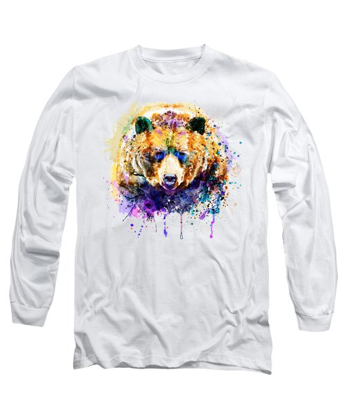 Colorful Grizzly Bear Long Sleeve T-Shirt