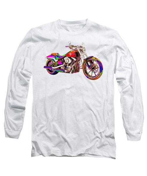 Colorful Harley-davidson Breakout Long Sleeve T-Shirt