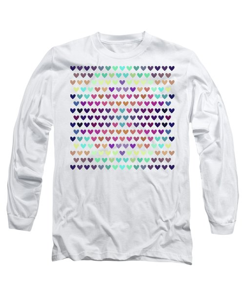 Colorful Hearts IIi Long Sleeve T-Shirt