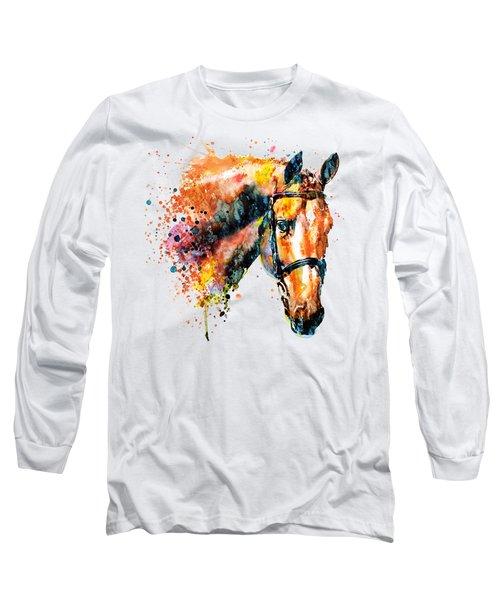 Colorful Horse Head Long Sleeve T-Shirt