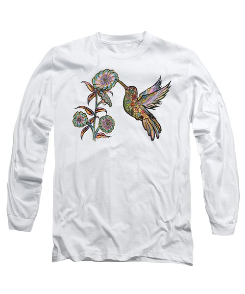 Colorful Hummingbird Long Sleeve T-Shirt