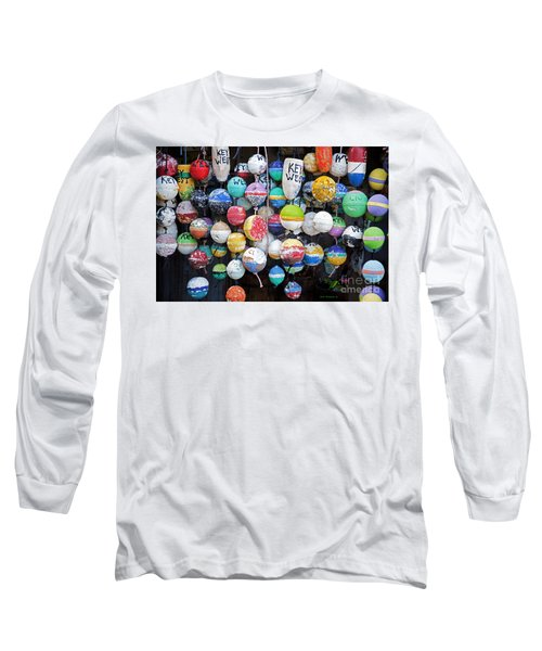 Colorful Key West Lobster Buoys Long Sleeve T-Shirt by John Stephens
