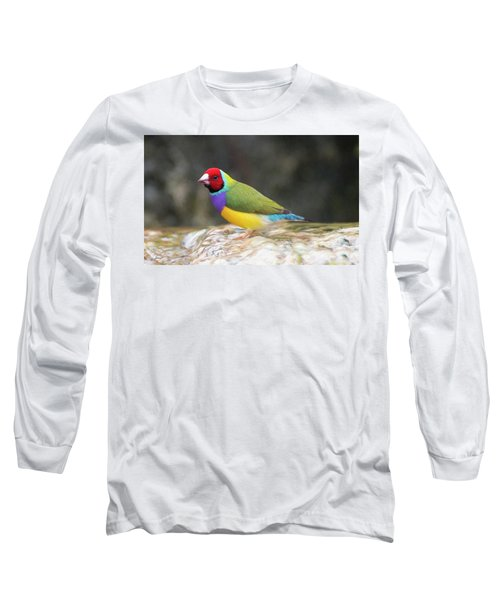 Colorful Lady Gulian Finch  Long Sleeve T-Shirt