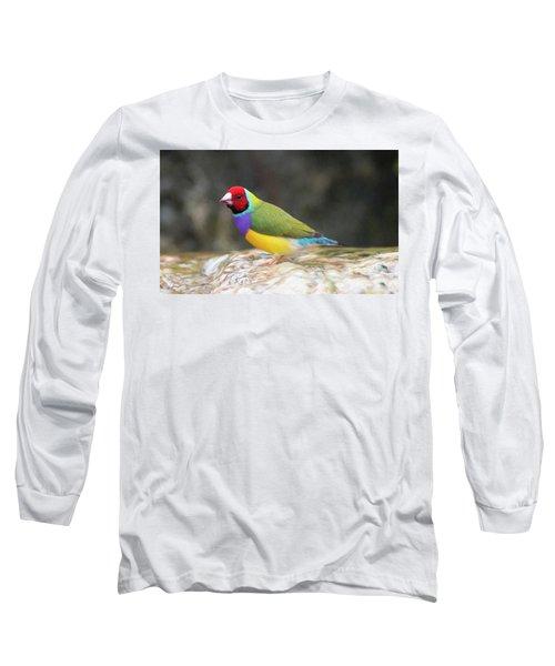 Colorful Lady Gulian Finch  Long Sleeve T-Shirt