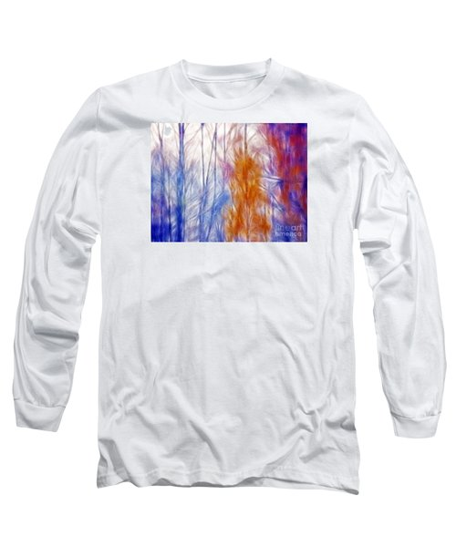 Colorful Misty Forest  Long Sleeve T-Shirt by Odon Czintos