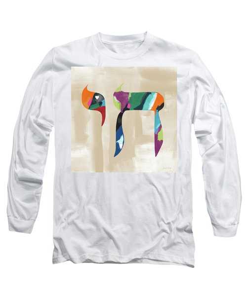 Colorful Painting Chai- Art By Linda Woods Long Sleeve T-Shirt by Linda Woods
