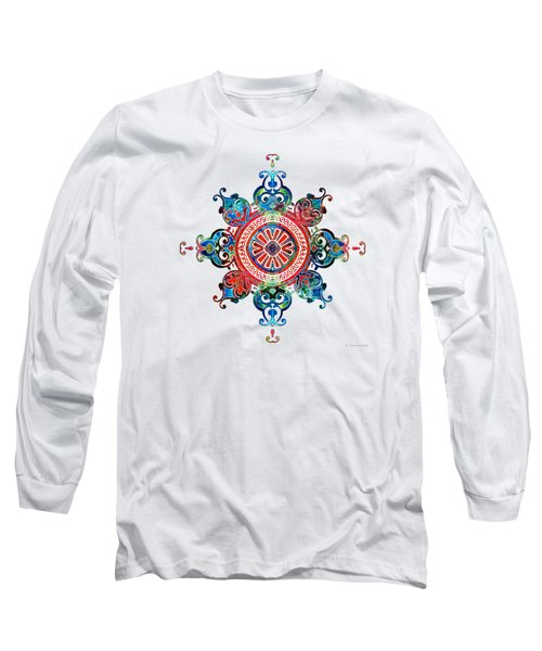 Colorful Pattern Art - Color Fusion Design 3 By Sharon Cummings Long Sleeve T-Shirt
