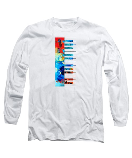 Colorful Piano Art By Sharon Cummings Long Sleeve T-Shirt by Sharon Cummings