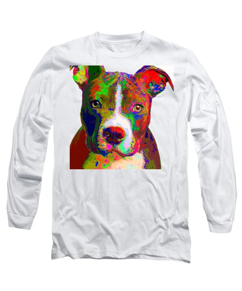 Colorful Pit Bull Terrier  Long Sleeve T-Shirt