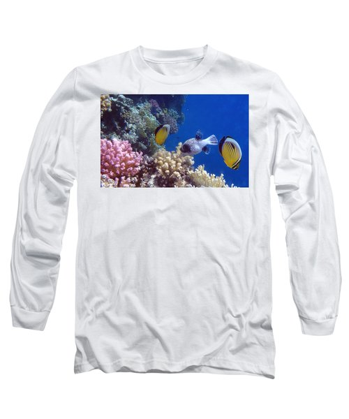 Colorful Red Sea Fish And Corals Long Sleeve T-Shirt