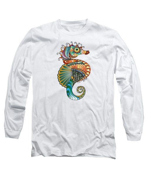Colorful Seahorse Long Sleeve T-Shirt