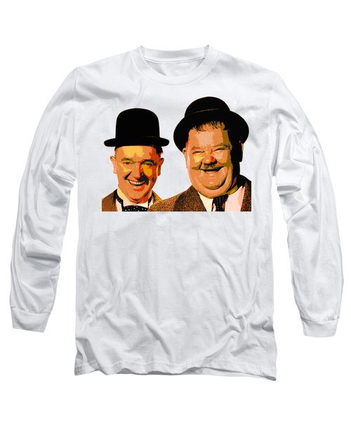 Colorful Stan And Ollie  Long Sleeve T-Shirt