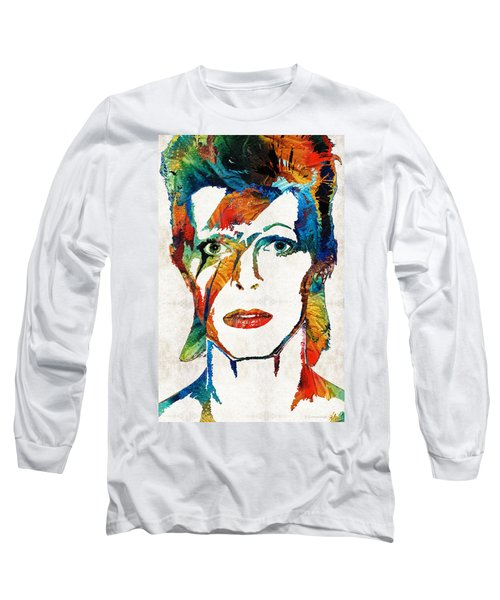Colorful Star - David Bowie Tribute  Long Sleeve T-Shirt