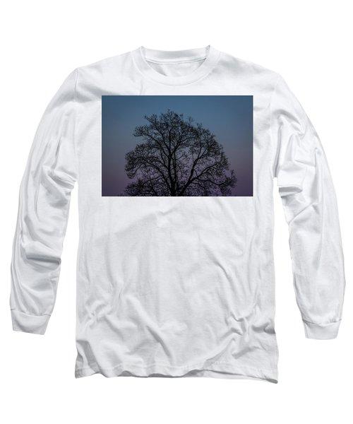 Colorful Subtle Silhouette Long Sleeve T-Shirt