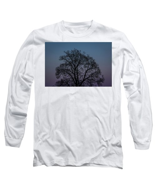 Colorful Subtle Silhouette Long Sleeve T-Shirt