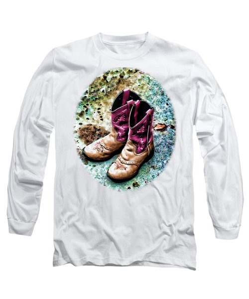 Colors Of A Cowgirl Oval White Long Sleeve T-Shirt