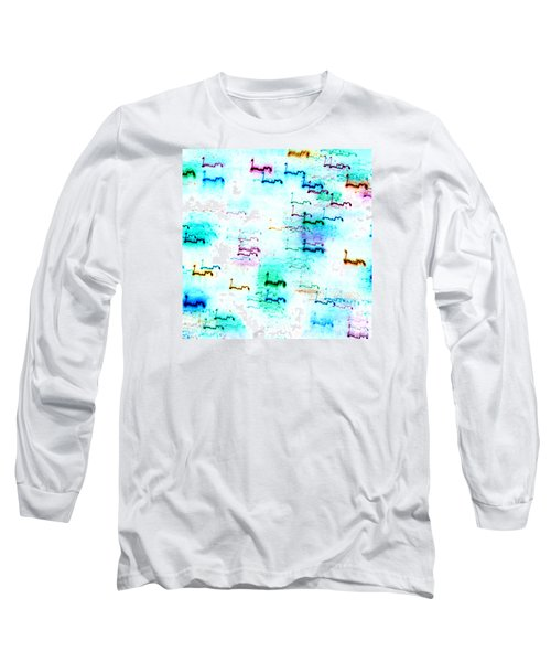 Colour Light Abstraction Invert Long Sleeve T-Shirt