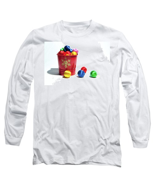 Coloured Baubles In A Pot Long Sleeve T-Shirt