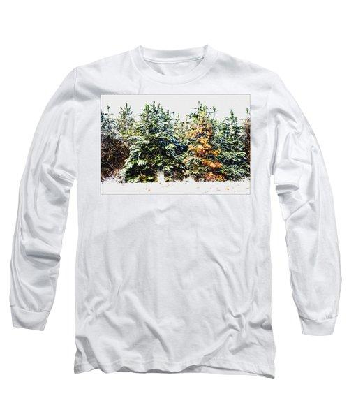 Coloured Trees  Long Sleeve T-Shirt