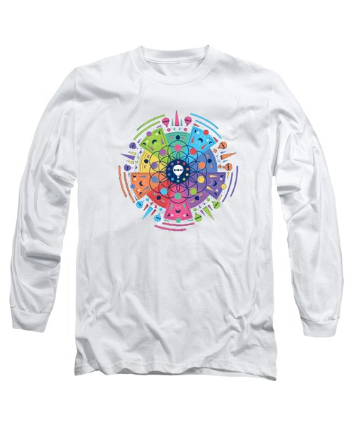 Colourful Of Stars Long Sleeve T-Shirt