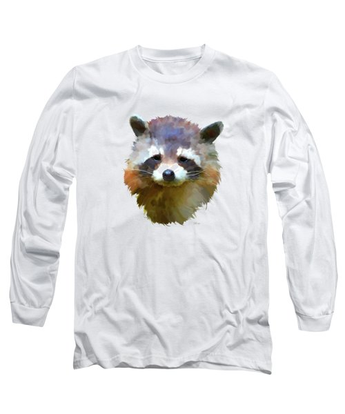 Colourful Raccoon Long Sleeve T-Shirt by Bamalam  Photography