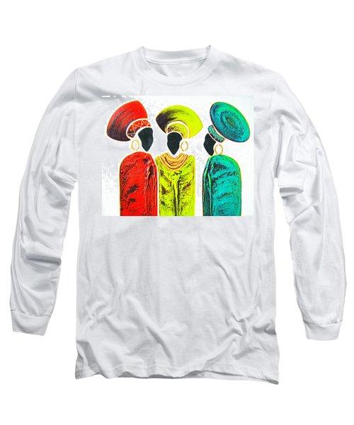 Colourful Trio - Original Artwork Long Sleeve T-Shirt