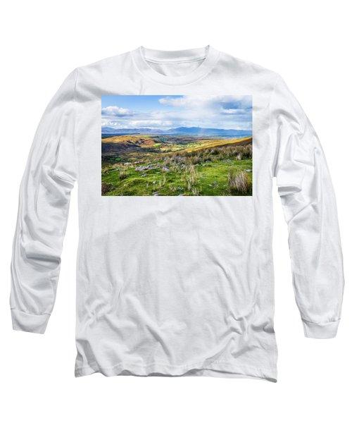 Colourful Undulating Irish Landscape In Kerry  Long Sleeve T-Shirt by Semmick Photo