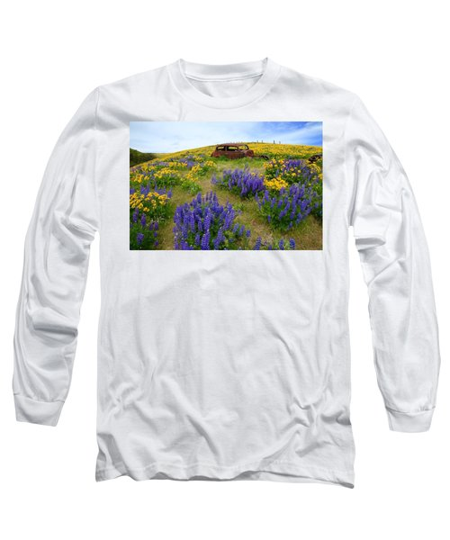 Columbia Hills Wildflowers Long Sleeve T-Shirt by Lynn Hopwood