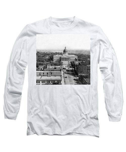 Columbia South Carolina - State Capitol Building - C 1905 Long Sleeve T-Shirt by International  Images