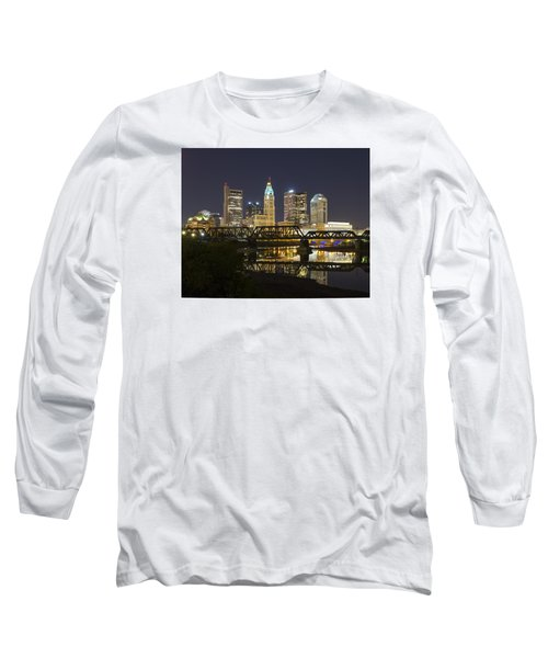 Columbus Skyline 2 Long Sleeve T-Shirt by Alan Raasch