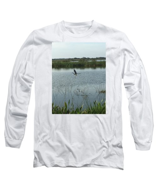 Coming In For A Landing Long Sleeve T-Shirt by Kay Gilley