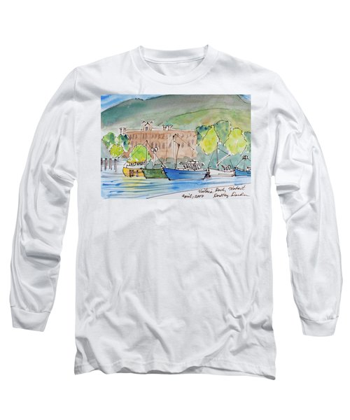 Fishing Boats In Hobart's Victoria Dock Long Sleeve T-Shirt