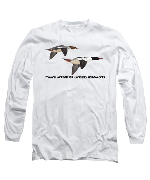 Common Mergansers  Isolated 2014-1 Long Sleeve T-Shirt