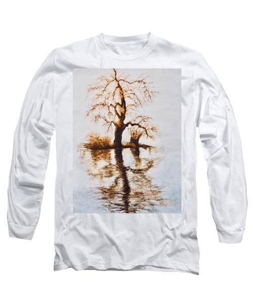 Como Lake Reflections Long Sleeve T-Shirt