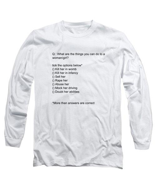Conceptual 2d Mcq Girl Long Sleeve T-Shirt by Keshava Shukla