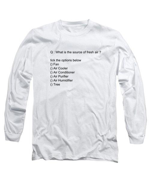 Conceptual 2d Mcq Tree Long Sleeve T-Shirt