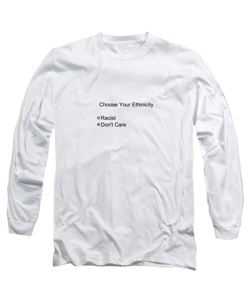 Conceptual 2d Survey No Race Long Sleeve T-Shirt by Keshava Shukla