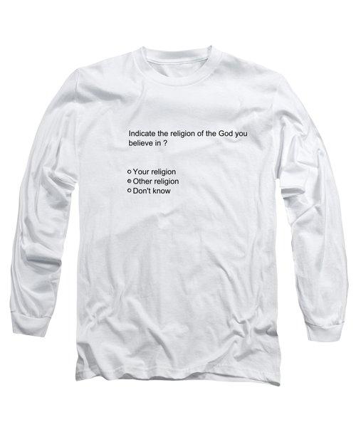 Conceptual 2d Survey Religion Long Sleeve T-Shirt by Keshava Shukla