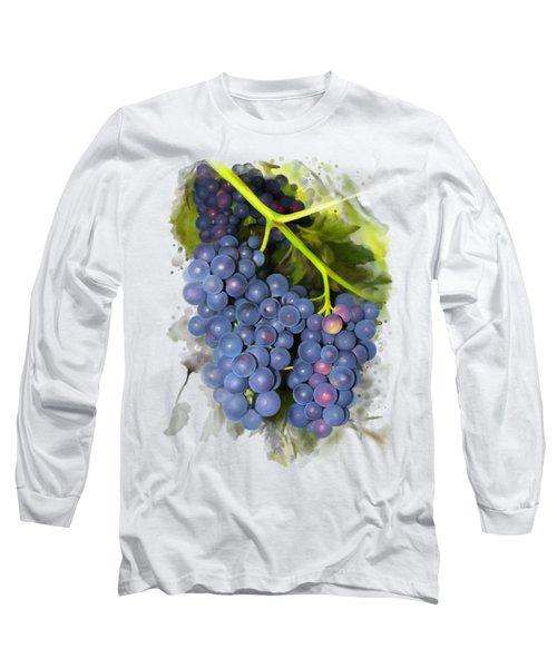 Concord Grape Long Sleeve T-Shirt by Ivana Westin