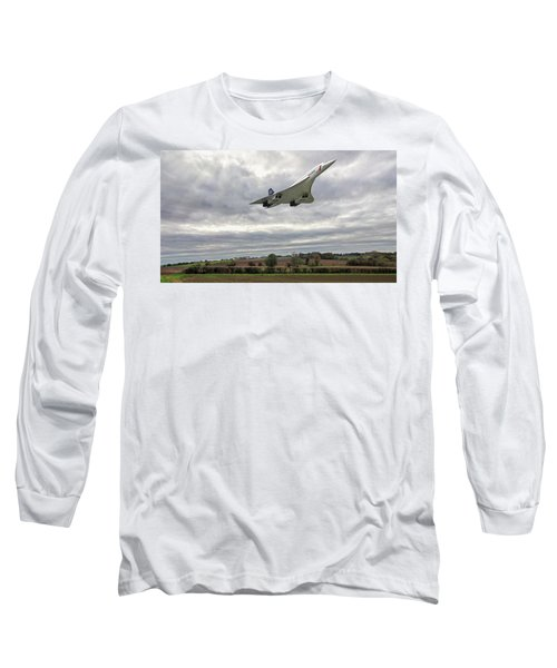 Concorde - High Speed Pass_2 Long Sleeve T-Shirt by Paul Gulliver
