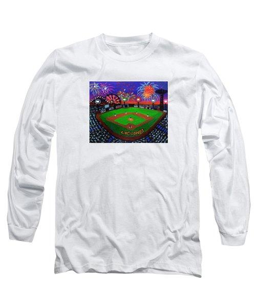 Coney Island Cyclones Fireworks Display Long Sleeve T-Shirt