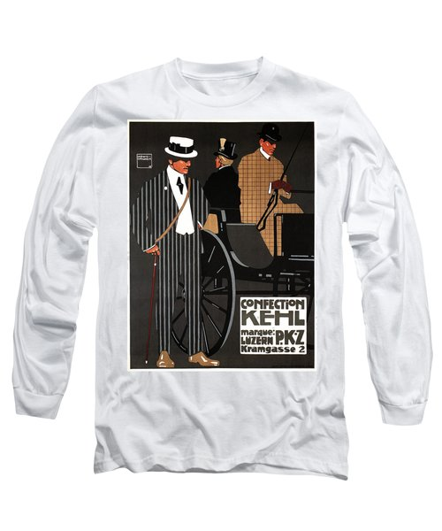 Confection Kehl - Luzern, Switzerland- Men's Clothing - Fashion - Vintage Advertising Poster Long Sleeve T-Shirt