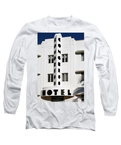 Congress Hotel. Miami. Fl. Usa Long Sleeve T-Shirt