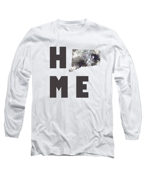 Connecticut State Map Long Sleeve T-Shirt